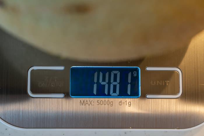 カンタロープメロンの重さ