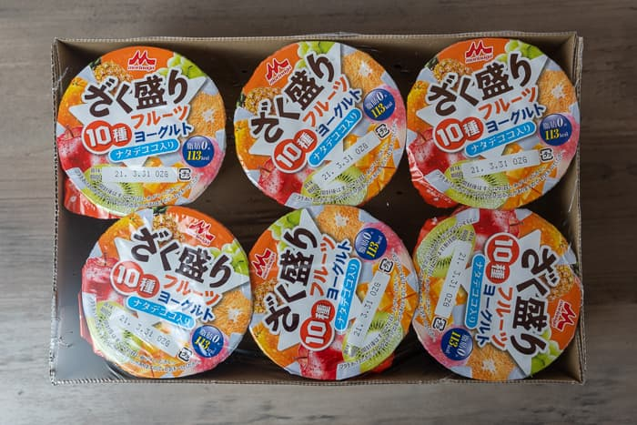 森永 ざく盛り10種フルーツヨーグルト